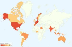 Twitter World Happiness Map
