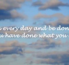 Finish Every Day And Be Done With It